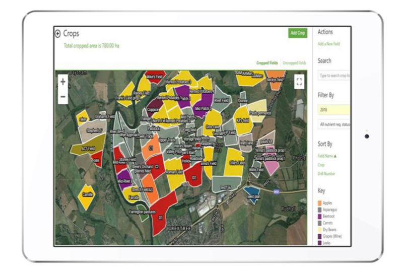 Greenlight-Farm-Management-field mapping in product ipad
